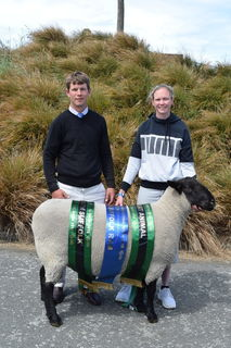 Limavady Stud win Best Meat breed sheep of NZ Ag show.